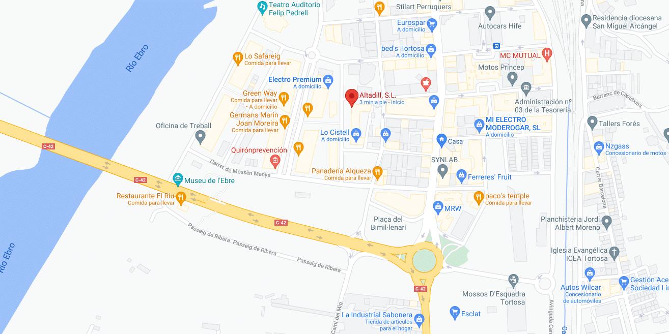 Mapa Altadill Electrodomèstics